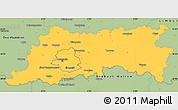 Savanna Style Simple Map of Vlaams Brabant