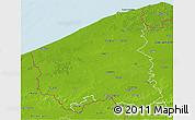 Physical 3D Map of West-Vlaanderen