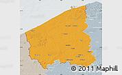 Political Map of West-Vlaanderen, lighten, semi-desaturated