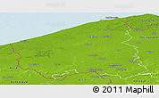 Physical Panoramic Map of West-Vlaanderen