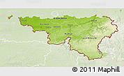 Physical 3D Map of Wallonne, lighten