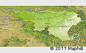 Physical 3D Map of Wallonne, satellite outside