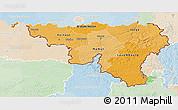 Political Shades 3D Map of Wallonne, lighten