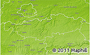 Physical 3D Map of Brabant Wallon