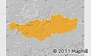 Political Map of Brabant Wallon, lighten, desaturated