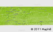 Physical Panoramic Map of Brabant Wallon