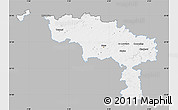 Gray Map of Hainaut, single color outside
