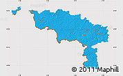 Political Map of Hainaut, cropped outside