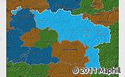 Political Map of Hainaut, darken