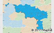 Political Map of Hainaut, lighten