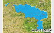 Political Map of Hainaut, satellite outside