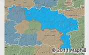 Political Map of Hainaut, semi-desaturated