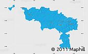 Political Map of Hainaut, single color outside