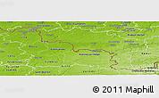 Physical Panoramic Map of Hainaut
