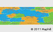 Political Panoramic Map of Hainaut
