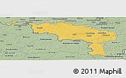 Savanna Style Panoramic Map of Hainaut