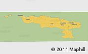 Savanna Style Panoramic Map of Hainaut, single color outside