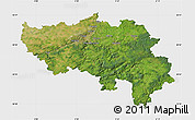 Satellite Map of Liege, single color outside