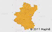 Political Map of Luxembourg, cropped outside