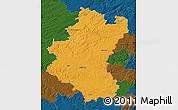 Political Map of Luxembourg, darken