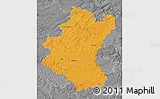 Political Map of Luxembourg, desaturated