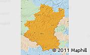 Political Map of Luxembourg, lighten