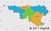 Political Map of Wallonne, cropped outside
