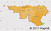 Political Shades Map of Wallonne, cropped outside