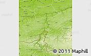 Physical Map of Namur