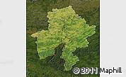 Satellite Map of Namur, darken