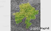 Satellite Map of Namur, desaturated