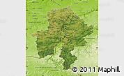 Satellite Map of Namur, physical outside