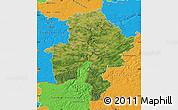 Satellite Map of Namur, political outside