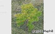 Satellite Map of Namur, semi-desaturated