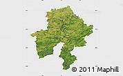 Satellite Map of Namur, single color outside