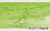 Physical Panoramic Map of Namur