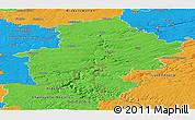 Political Panoramic Map of Namur