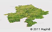Satellite Panoramic Map of Namur, cropped outside