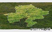 Satellite Panoramic Map of Namur, darken