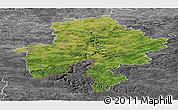 Satellite Panoramic Map of Namur, desaturated