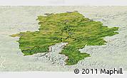 Satellite Panoramic Map of Namur, lighten