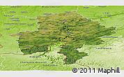 Satellite Panoramic Map of Namur, physical outside