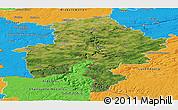 Satellite Panoramic Map of Namur, political outside
