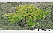 Satellite Panoramic Map of Namur, semi-desaturated