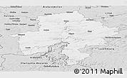 Silver Style Panoramic Map of Namur