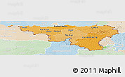 Political Shades Panoramic Map of Wallonne, lighten