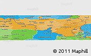 Political Shades Panoramic Map of Wallonne