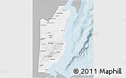 Gray 3D Map of Belize, single color outside