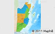 Political 3D Map of Belize, lighten, land only