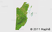 Satellite 3D Map of Belize, cropped outside